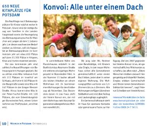 Artikel im GeWoBA Magazin – Ausgabe Oktober 2013